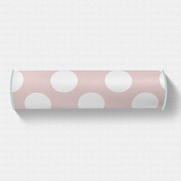 Rolo peseira Rosa quartzo com Bolas