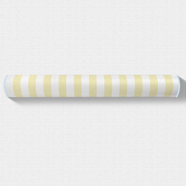 Rolo lateral para berço Listras Amarelo Bebê