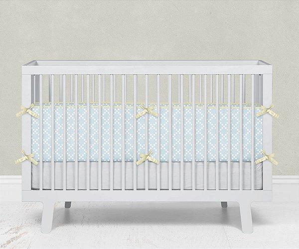 Lateral de berço em espuma Pearl Azul bebê