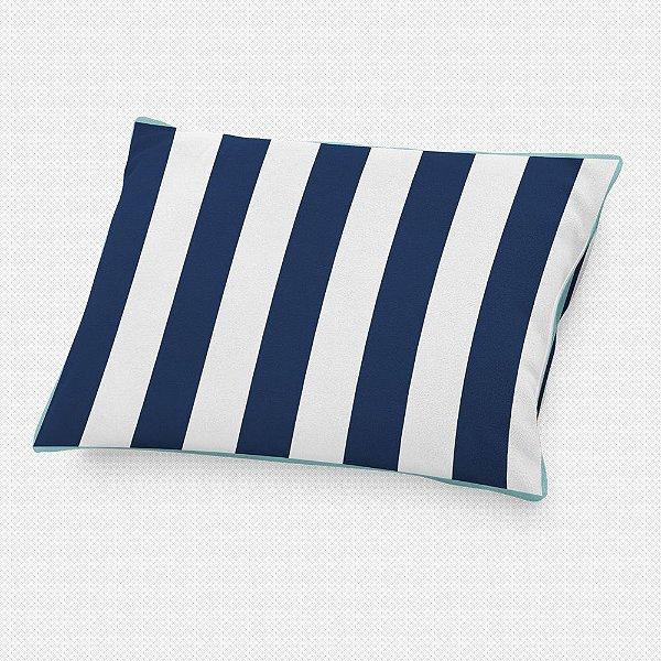 Almofada de cabeceira Listras Azul Marinho