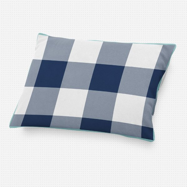Almofada de cabeceira Xadrez Azul Marinho