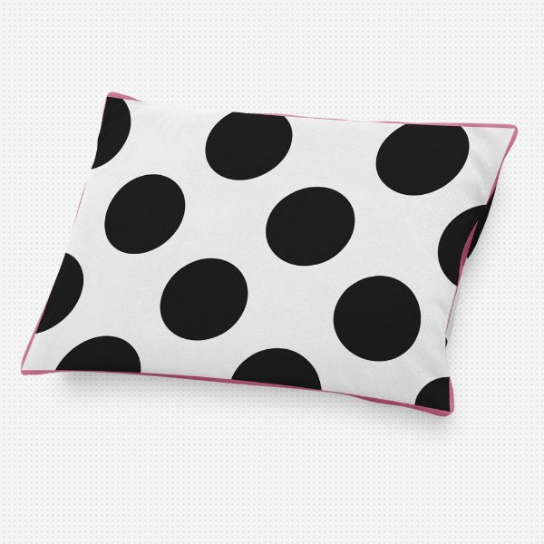 Almofada de cabeceira Branca com Bolas