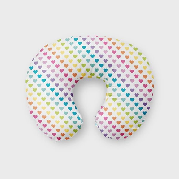 Almofada de amamentação Rainbow Hearts