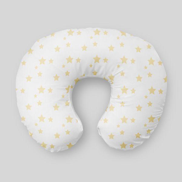 Almofada de amamentação Estrelas Amarelo Bebê