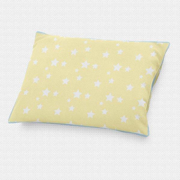Almofada de cabeceira Amarelo Bebê com Estrelas