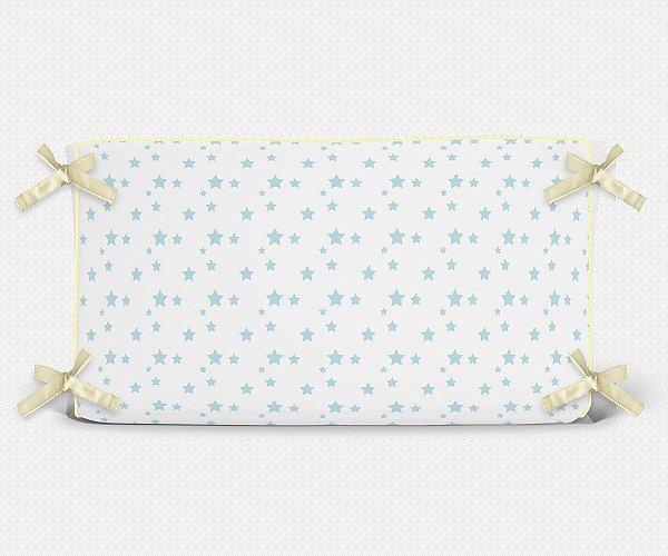 Cabeceira em espuma Estrelas Azul Bebê