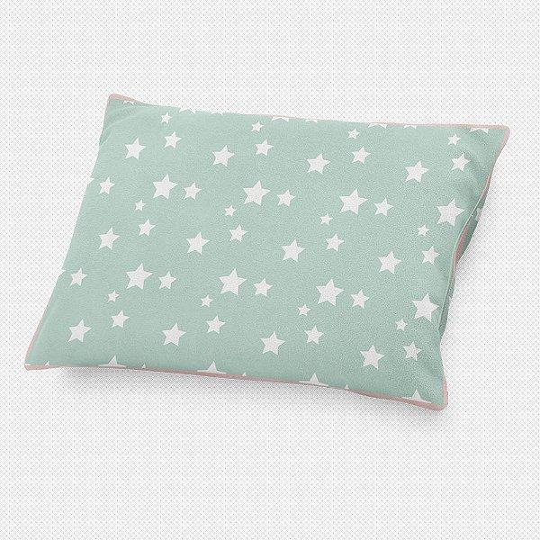 Almofada de cabeceira Menta com Estrelas