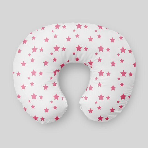 Almofada de amamentação Estrelas Rosa Chiclete