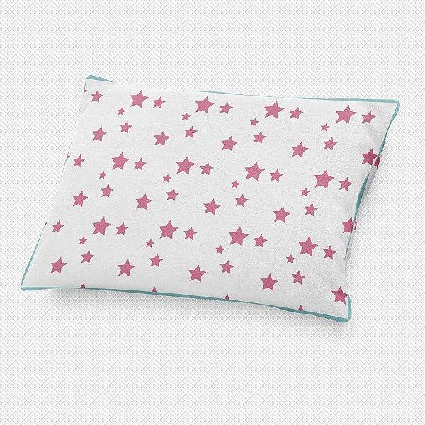Almofada de cabeceira Estrelas Rosa Chiclete