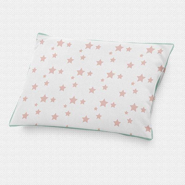 Almofada de cabeceira Estrelas Rosa Quartzo