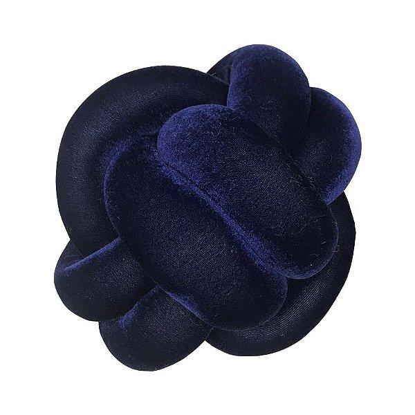 Almofada Nó em veludo molhado Azul