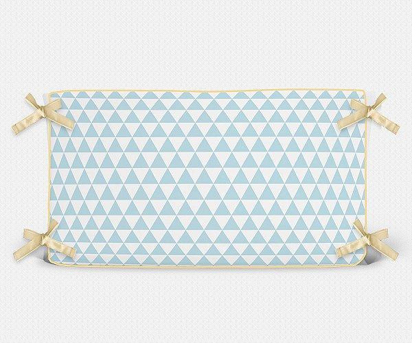 Cabeceira em espuma Triângulos Azul bebê