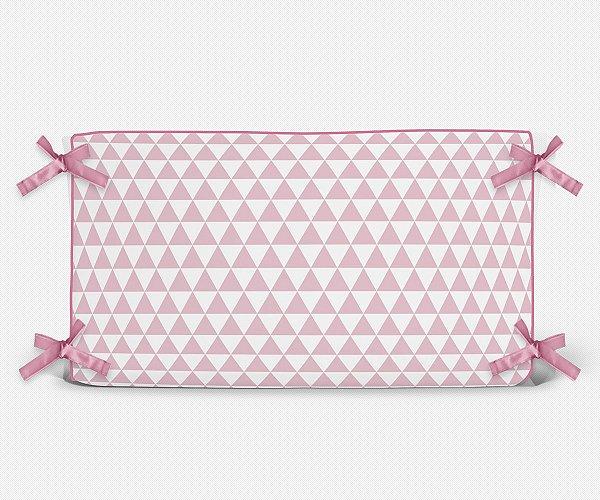 Cabeceira em espuma Triângulos Rosa Bebê