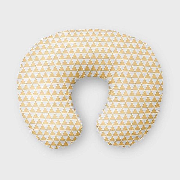 Almofada de amamentação Triângulos Amarelo Bebê