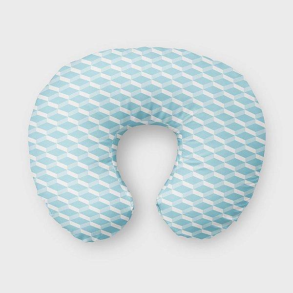 Almofada de amamentação 3D Azul Bebê