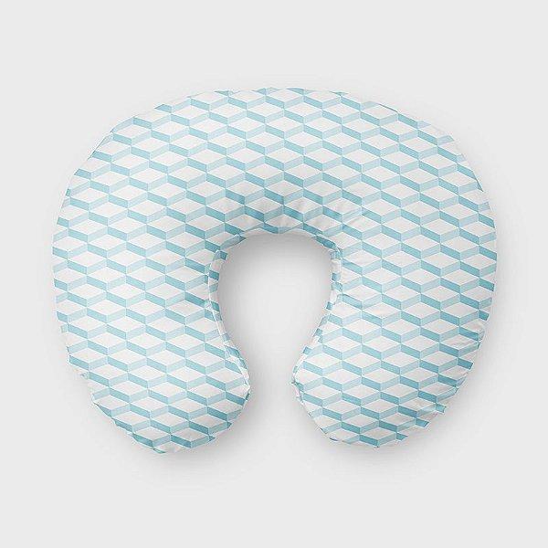 Almofada de amamentação 3D 2 Azul Bebê