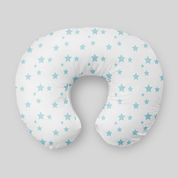 Almofada de amamentação Estrelas Azul Bebê