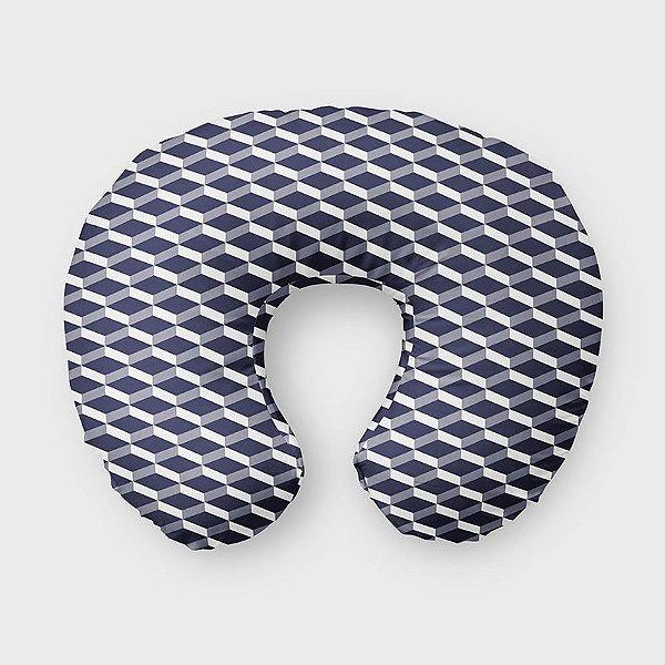 Almofada de amamentação 3D Azul Marinho
