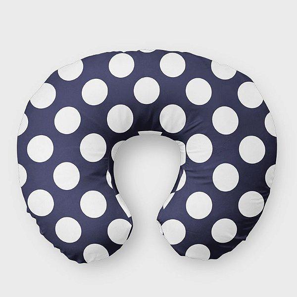 Almofada de amamentação Azul Marinho com Bolas