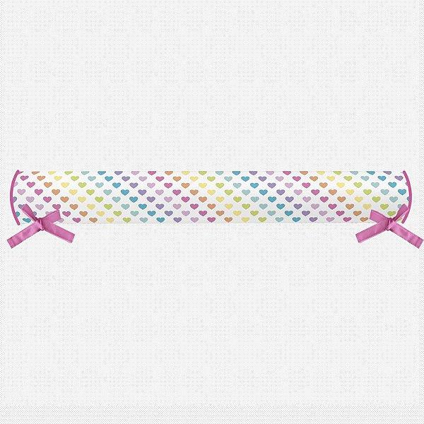 Rolo lateral para cama montessoriana Rainbow Hearts