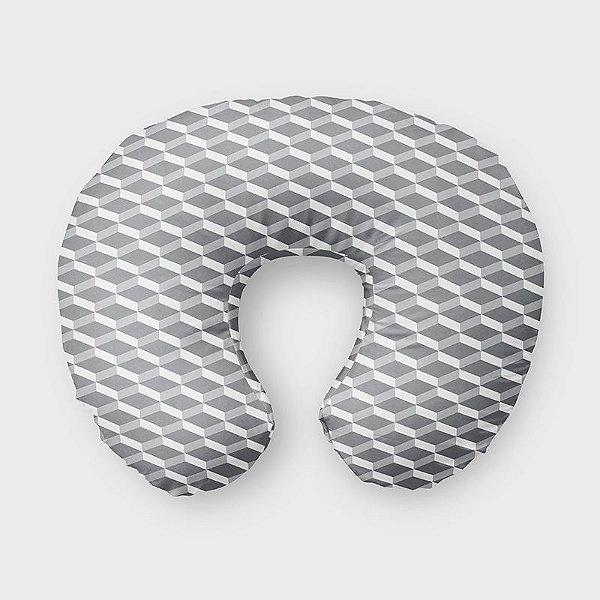 Almofada de amamentação 3D Cinza