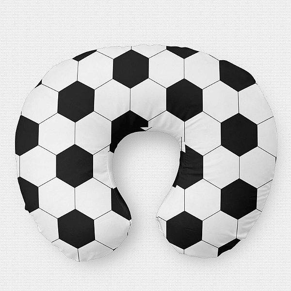 Almofada de amamentação bola de Futebol branca