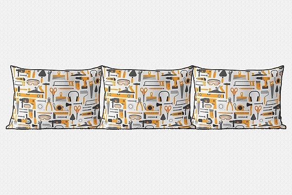 Kit almofadões para cama Construção