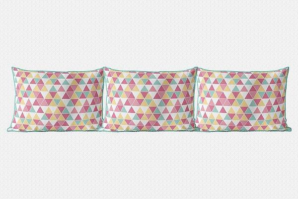 Kit almofadões para cama Tri Candy