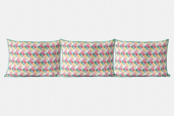 Kit almofadões para cama Candy Colors