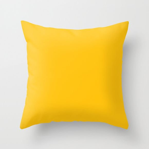 Capa de almofada lisa Amarela 40x40 ~ OUTLET