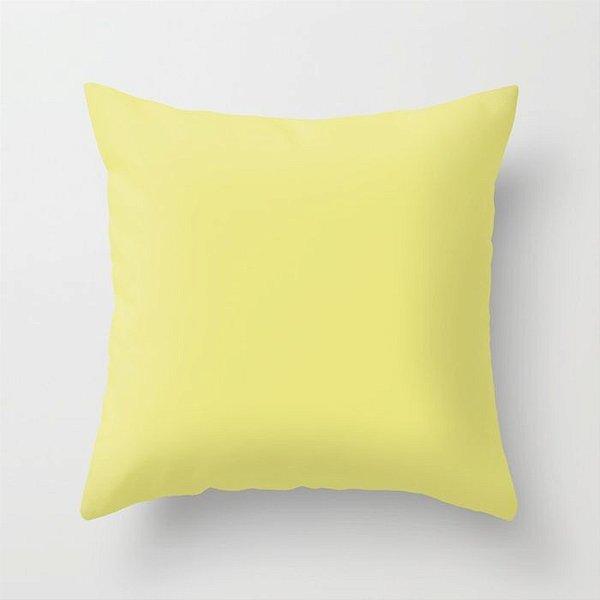 Capa de almofada Lisa Amarelo Citric 40x40 ~ Bazar!