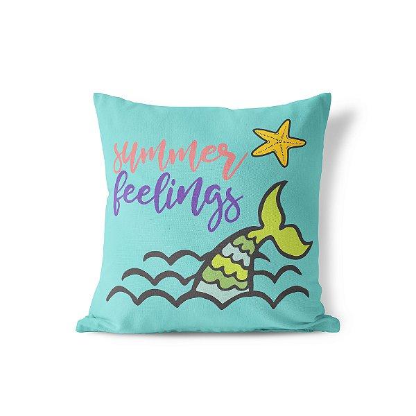 Capa de almofada Summer Feelings 40x40 ~ Bazar!