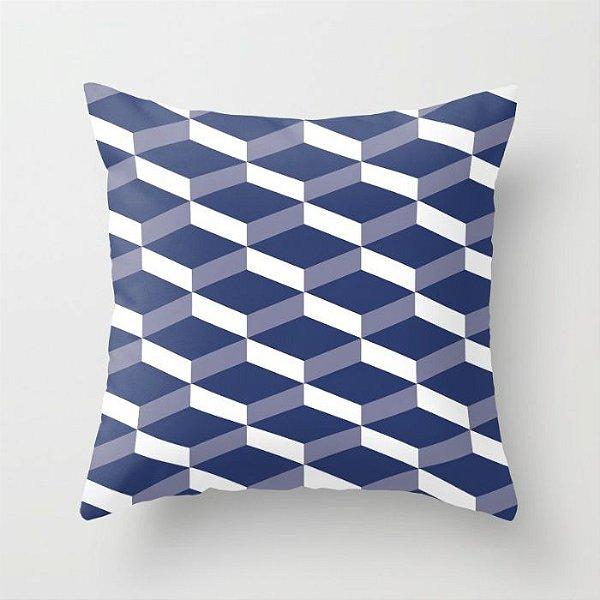 Capa de almofada 3D Azul Marinho 50x50 ~ OUTLET