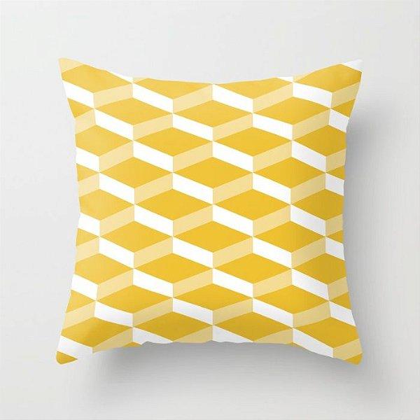 Capa de almofada 3D Amarelo 50x50 ~ Bazar!