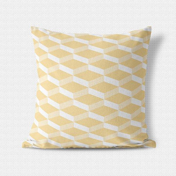 Capa de almofada 3D Amarelo Bebê