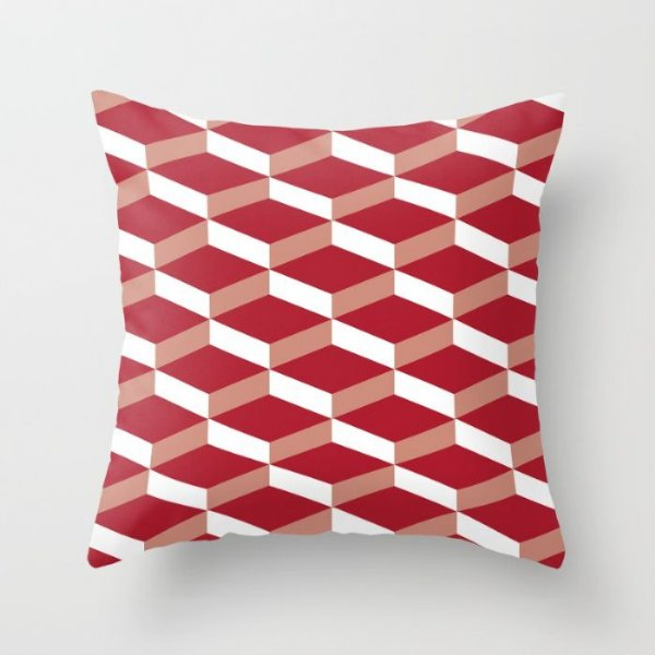 Capa de almofada 3D Vermelho