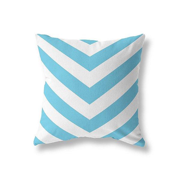 Capa de almofada V Azul Turquesa