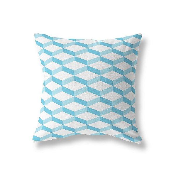 Capa de almofada 3D 2 Azul Turquesa