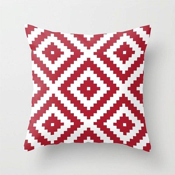 Capa de almofada Aztec Vermelho