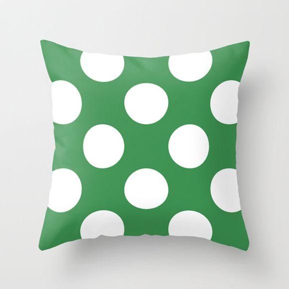 Capa de almofada Verde com Bolas