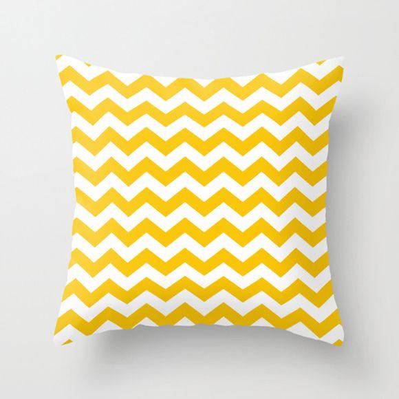 Capa de almofada Chevron Amarela