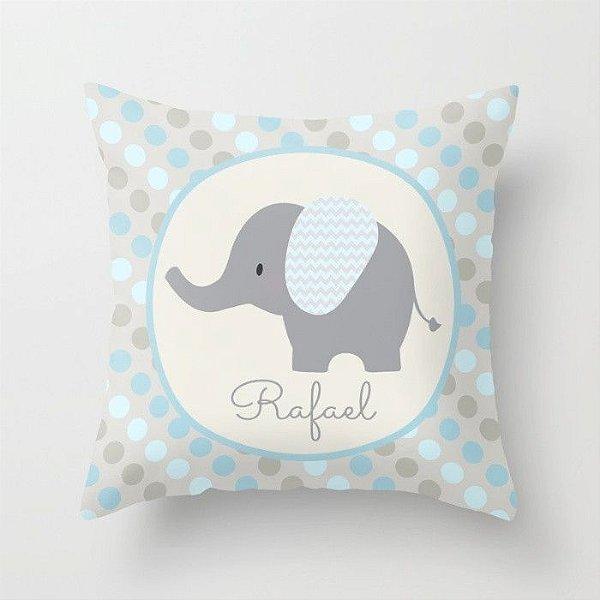 Capa de almofada Elefantinho Azul