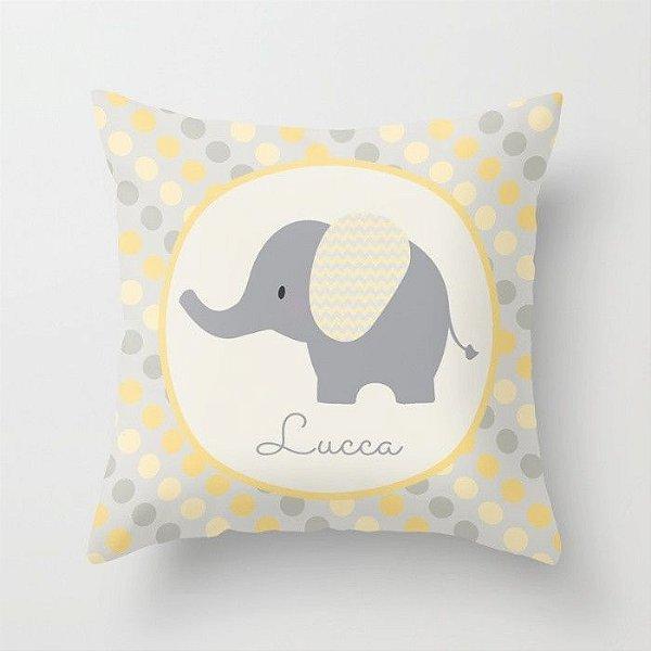 Capa de almofada Elefantinho Amarelo