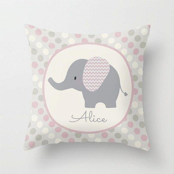 Capa de almofada Elefantinho Rosa Bebê