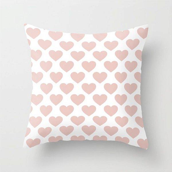 Capa de almofada Corações Rosa Quartzo
