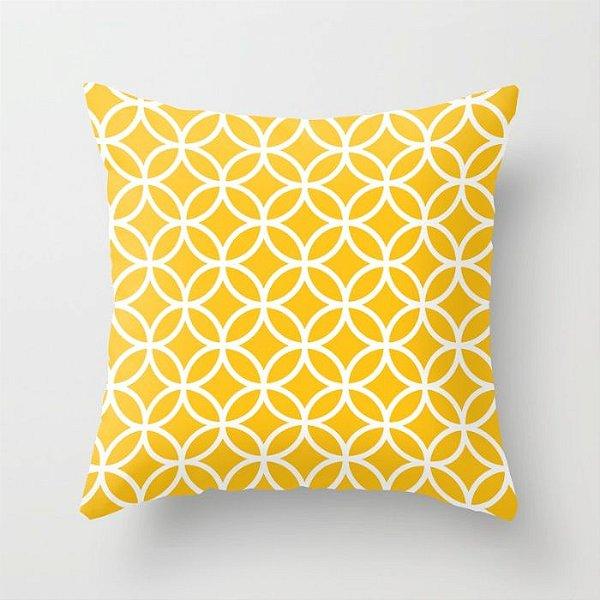 Capa de almofada Circles Amarelo
