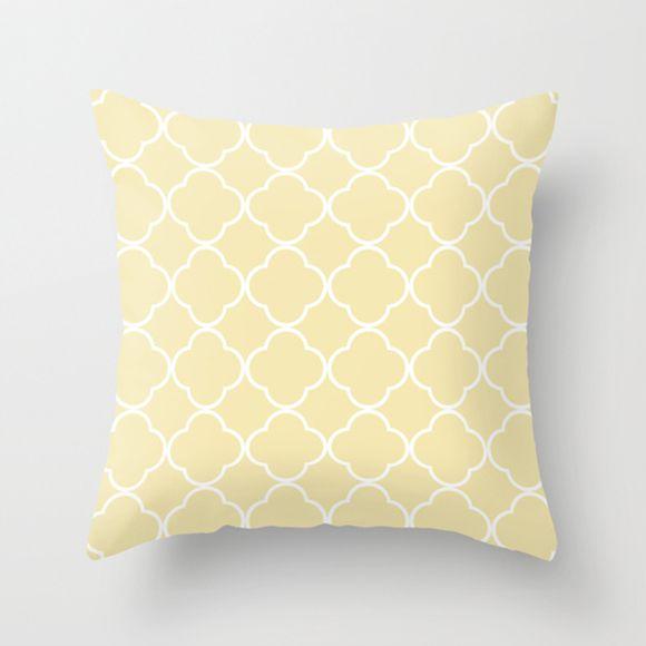 Capa de almofada Quatrefoil Amarelo bebê