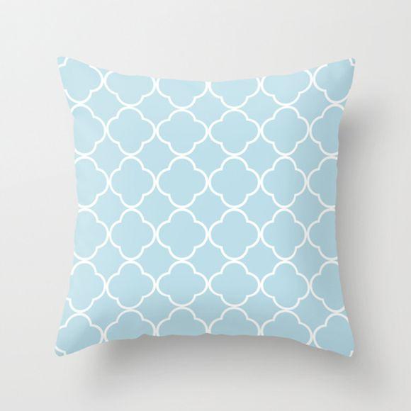 Capa de almofada Quatrefoil Azul bebê