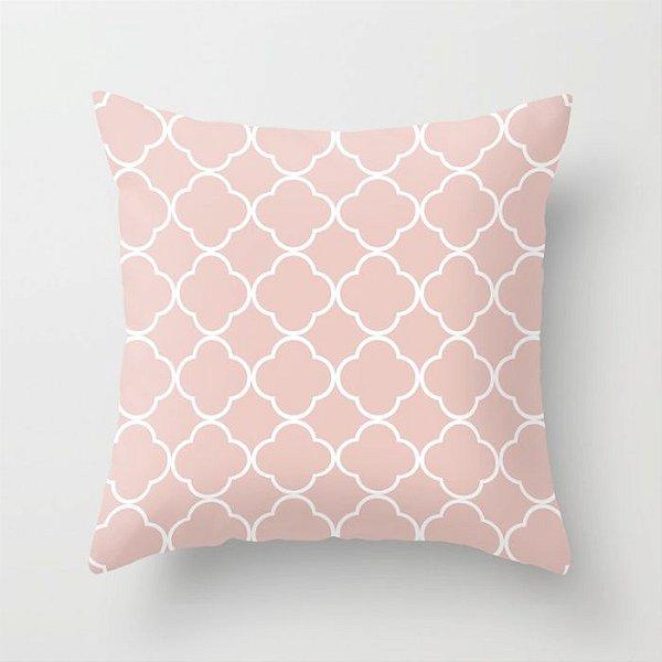 Capa de almofada Quatrefoil Rosa quartzo