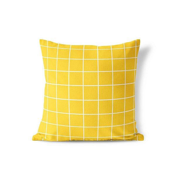 Capa de almofada Quadrados Amarela